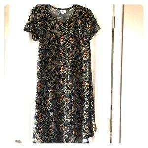 Floral print t-shirt like dress